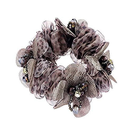 QWEASD Headdress Haar Ring, Koreaanse Haaraccessoires Haartouw, Mode Doek Hoofd Bloem Hoofd Sieraden, Haarband Top, Volwassen Trinkets Mooie Hoofd Accessoires. (Kleur: C)