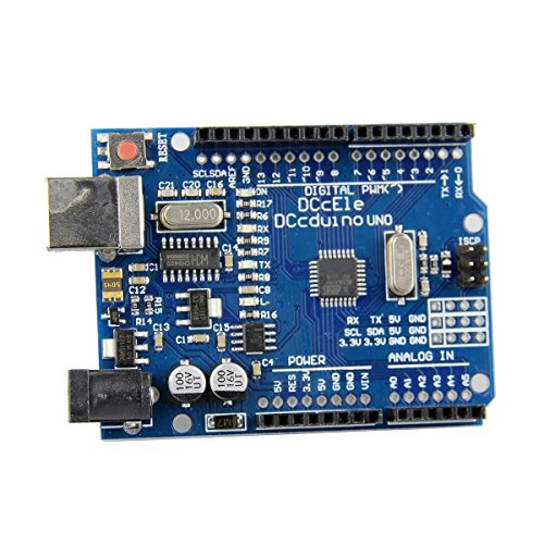 Mark8shop DCCduino Scheda di sviluppo per AVR DEV-10524-ATMEGA328 con Arduino UNO R3
