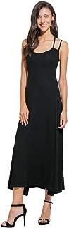 Women Long Length Sleeveless Maxi Dresses Backless Spaghetti Strap Solid Slim Fit Dress