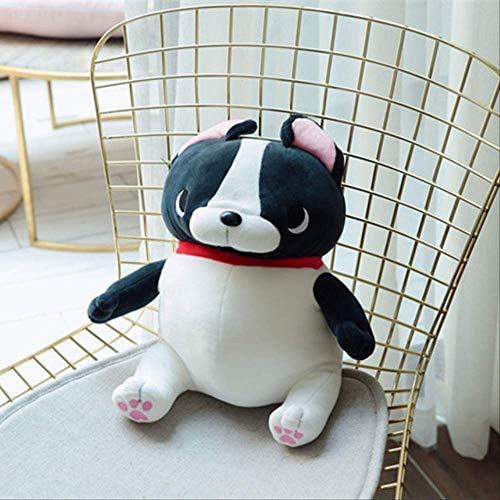 N/V Lindo Perro De Peluche De Perro Bulldog Francés Encantador Cachorro De Peluche Perros Muñeca Bebé Niños Cumpleaños Boda Regalo Hogar Tienda Decoración 45CM Negro