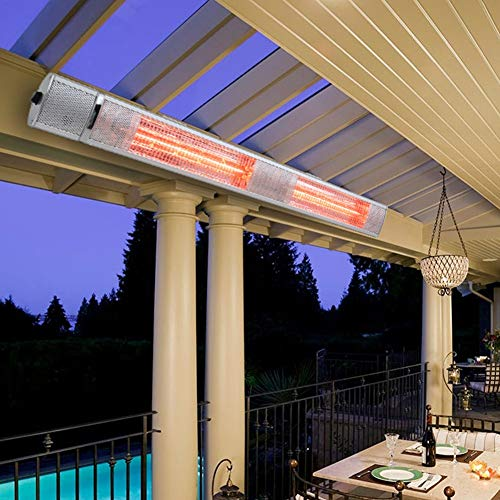 The Fellie Wall Mounted Patio Heater 1000W/2000W/3000W Heating Settings Garden Heaters Outdoors Indoors with Remote Control Electric Heater