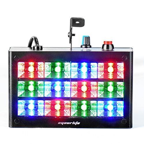 Strobe Lights, Eyourlife Strobe Light 12 LED 60 Watt RGB Flash Light Stage Lights Disco DJ Light Sound Activated Background Stage Lighting for Wedding Dj Disco Party Stage Light Show
