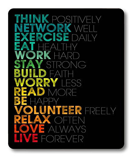 Smooffly Gaming Mouse Pad Custom,Inspirational Quotes Mouse pad 9.5 X 7.9 Inch (240mmX200mmX3mm)