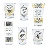 Game Of Thrones Vasos Set of 6 Black and Gold Premium Juego de Tronos, 1