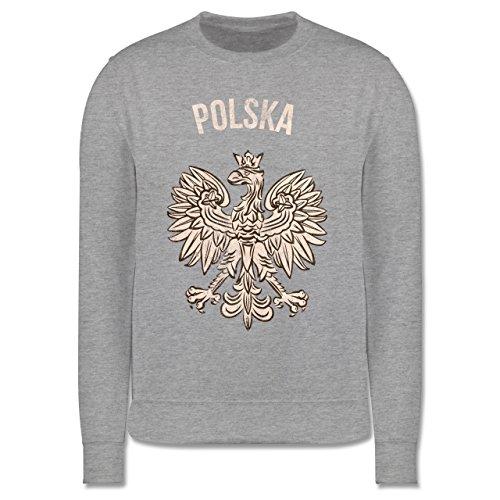 Städte & Länder Kind - Polska Vintage - 104 (3/4 Jahre) - Grau meliert - Polska Pullover - JH030K - Kinder Pullover
