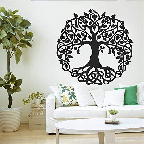 zzlfn3lv 81 * 80 cm Árbol Etiqueta de la Pared Árbol de la Vida Etiqueta de Vinilo para la Pared o la Ventana Decoración para el hogar Jardín de Eden Grandes árboles de Yoga