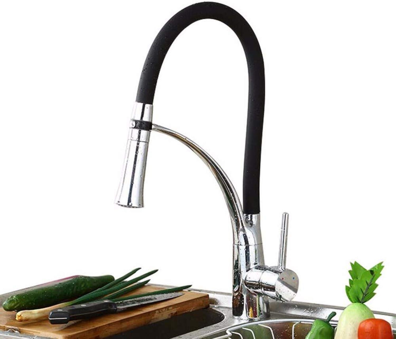 SCJ Küchenmischbatterie Küchenwaschbecken Mischbatterie Single-Connected Stretchable All-Copper Wasserhahn