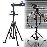 LZQ Fahrradmontageständer Reparaturständer für Fahrräder, 360° drehbar und Höhenverstellbar...