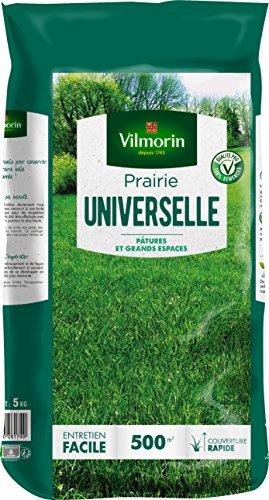 VILMORIN - Prairie Universelle - Pour pâtures et grands espaces - Idéale pour les animaux - Robuste - Entretien facile - Couverture rapide - 5 Kg = 500 m² de Prairie