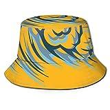 Big Wave Buscador Patrón Pescador Sombrero Unisex Ocio Viaje Playa Sol Sombrero Transpirable Gorra Protección UV Negro