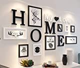 MUZIDP Massivholz Fotowand,Kreativ Foto-Rahmen-Wand Bild