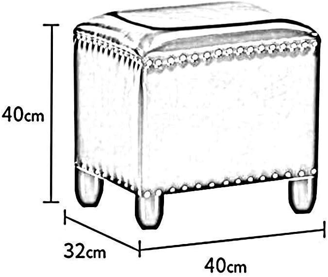 YUMUO Pouf rectangulaire en Similicuir Repose-Pieds Banc de Salon Canapé Maison Chambre Tabouret de Salon (Couleur: # 1, Taille: 40 * 32 * 40cm) 4