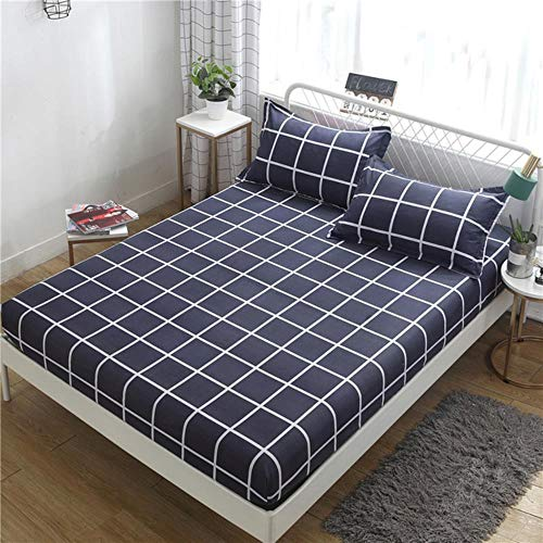 WTMLK 1PC Bed Sheet Flower Printed Bed Mattress Covers Fitted Sheet Sets Four Corners With Elastic Band Bed Sheet(No Pillowcases) MY,Luomajianyue,1PC Sheet 150X200CM