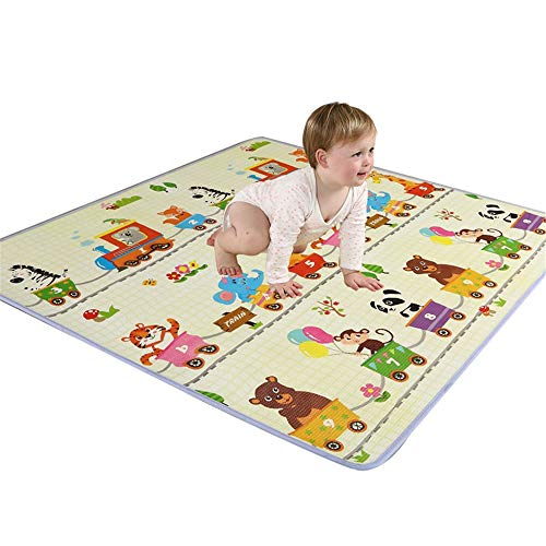 Affordable WLPOY Baby Kids Play Mat Baby Play Mat Extra Large Foam Playmat Crawl Mat Reversible Wate...