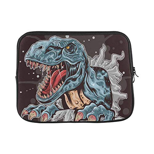Angry Cartoon Dinosaur Laptop Sleeve Case 11 11.6 Inch Briefcase Cover Protective Notebook Laptop Bag