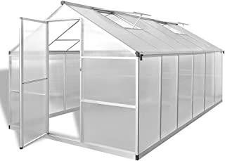 comprar comparacion Festnight Invernadero de Aluminio Reforzado con Base Incorporada, 9,025 m2