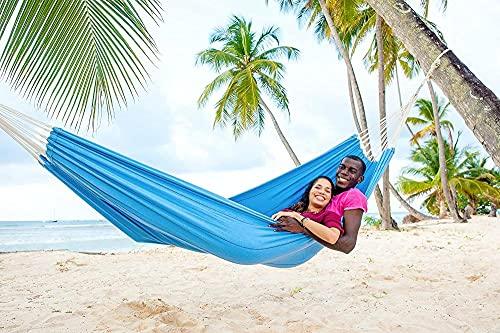 Hamaca de Lona para Exteriores, Hamaca pequeña Individual, con Bolsa de Transporte, Correa de árbol y Cuerda, Hamaca portátil para jardín Interior y Exterior, Camping, Playa, Viajes.