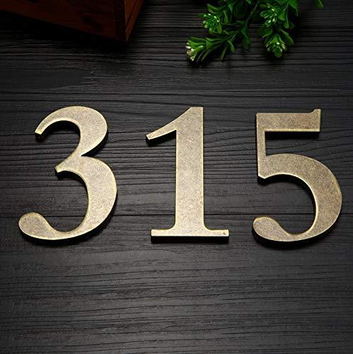 10 cm Höhe Zink-Legierung Hausnummern Tür Nummer Adressnummer (Color : Bronze, Height : 10cm-3)