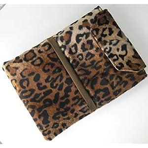 Handmade – Tablet Tasche Hülle Etui Case Sleeve – für Tablet bis 11″ Zoll (Tabletgröße bis 18 x 25 cm) – Leoparden Fell – waschbar