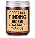 Lavender Scented Candle - Going Away Gift for Coworker Women Men Goodbye, Farewell, Leaving Gifts for Colleague Boss Co-Worker Friends - Good Luck Finding Better Coworkers Than Us