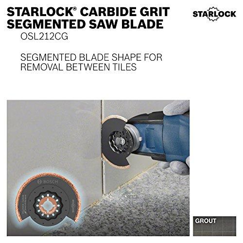 Bosch OSL212CG Starlock Oscillating Multi Tool Carbide Grit Segmented Saw Blade, 2-1/2