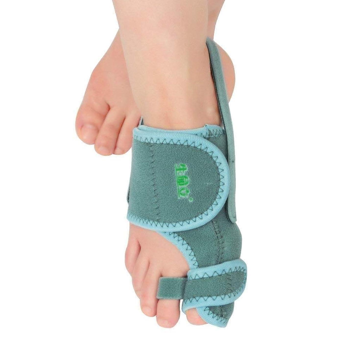 円形のスタンドノーブル外反母ortho装具、女性と男性の足の親指の矯正用セパレーターの腱膜瘤緩和のための夜間親指つま先外反,Left Foot