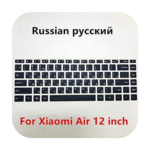 Teclado ruso / español silicona teclado cubierta para teclado Xiaomi Mi Notebook Para Air 12.5 13.3 Pro 15.6