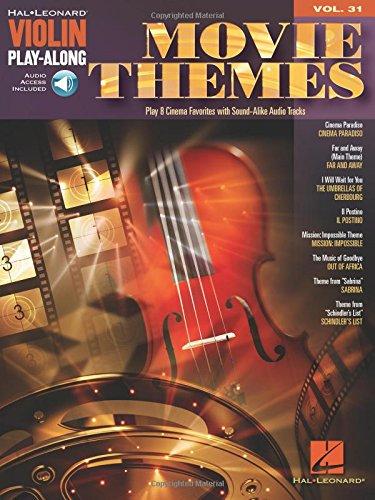 Movie Themes [Lingua inglese]: Violin Play-Along Volume 31