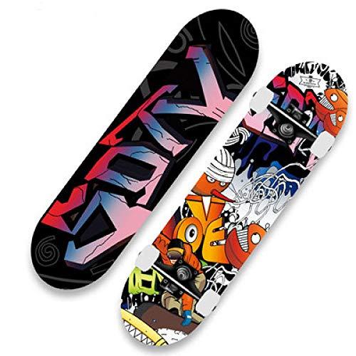 VByge Skateboard Professional Board Double Tilt Vier Räder Penny Board Geeignet Für Erwachsene Und Kinder Anfänger Longboard Farbe 78x19cm