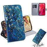 Dmtrab Phone Case for Huawei Nova 4 Portefeuille de portefeuille, dessin de couleur de fleur...