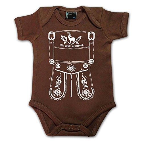 meinherzschlag Baby Body MEI erste Lederhosn Größe Größe: 56 (0-3 Monate)