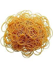 150 bandas elásticas de goma, banco amarillo de papel, billetes, dinero euros libras, bandas elásticas.