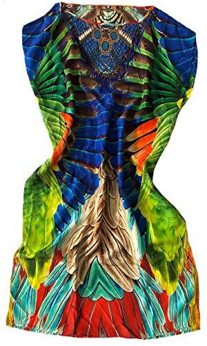 Mala Alisha SUMMER SALE strandjurk PARAKEET + Embroidery parrot green multi ** Maat 36/38** * NP € 269 ** NIEUW