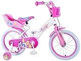 E&L Cycles Kinderfahrrad Disney Princess 16 Zoll mit Rücktrittbremse, Korb, Puppensitz