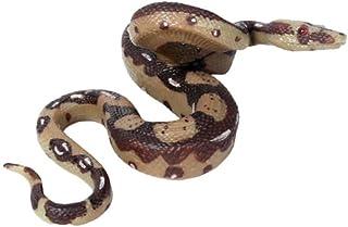 NUOBESTY Serpiente de Goma Realista Goma gateando pitón Juguetes estatuilla Broma Juguete Serpiente Espiral asustadiza susto pájaros Ardillas Ratones decoración 1 pc