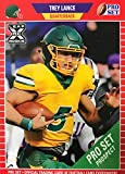 Trey Lance 2021 Pro Set Leaf XRC Short Printed Mint Rookie Card #PS10 picturing him in his Yellow North Dakota State Jersey