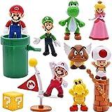 Miotlsy 10 pcs/Set Toys - Figuras de Ario y Luigi Figuras de acción de Yoshi y Bros Figuras de Juguete de PVC de