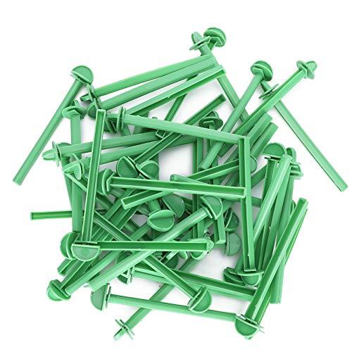 Fdit Palo de pie para Loros, 50 Piezas de plástico para pájaros,...