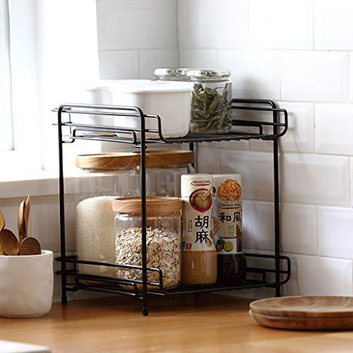 RYUXUI Keuken benodigdheden Opslag Rack Draining Rack Perfect voor het opslaan van specerijen specerijen granen ingeblikte goederen zout peper grinders