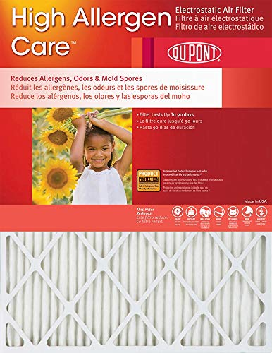 20x20x1 (19.75 x 19.75) DuPont High Allergen Care Electrostatic Air Filter (2 Pack)