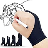 Timebetter Artist Gloves, Palm Rejection Glove for Drawing Tablet, iPad Sketching Glove, Suitable for Left and Right Hand, Large - 2PCS