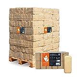 HEIZFUXX Holzbriketts Nadelholz Ruf Classic Kamin Ofen Brenn Holz Heiz Brikett 10kg x 96 Gebinde 960kg / 1 Palette Paligo