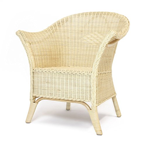FRANK FLECHTWAREN Natur-lackierter Rattan-Sessel im klassischen Design