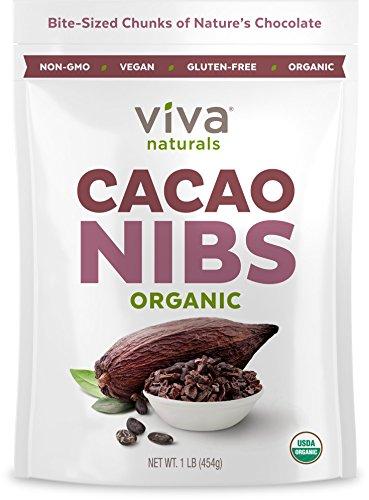 Viva Naturals Organic Cacao (Cacao Nibs, 1 LB)
