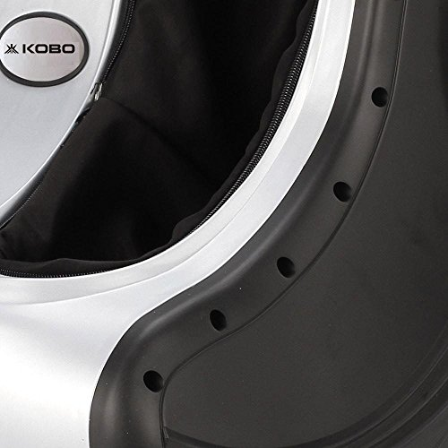 Kobo Kneading Rolling Vibration Heating Foot & Calf Massager Personal Health Studio Leg Beautician, Silver