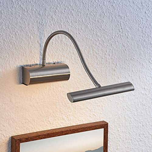 Lindby LED Wandleuchte, Wandlampe Innen 'Rakel' (Modern) in Alu aus Metall u.a. für Wohnzimmer & Esszimmer (1 flammig, A+, inkl. Leuchtmittel) - Bilderleuchte, Wandstrahler, Wandbeleuchtung