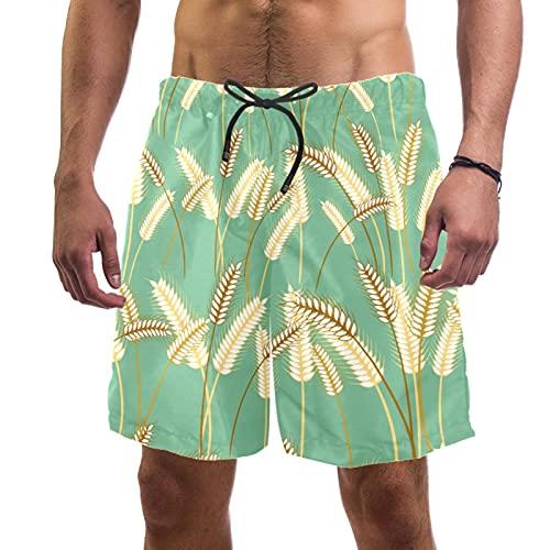 Nananma Barley Grass Swim Trunks traje de baño playa surf pantalones cortos para hombre L, multicolor, M/L