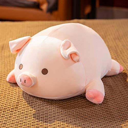 Dongcrystal 19.6 Inches Pink Sleeping Pig,Soft Plush Piggy Toy Stuffed Animals Pillow