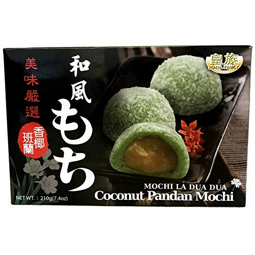 Mochi Dulce Japonés Sabor Coco-Pandano - Royal Family 6 Piezas (210g.)