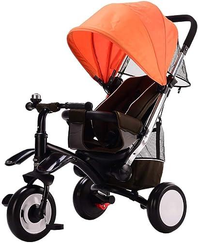 mejor calidad mejor precio Yuany Triciclo, Triciclo Multifuncional 3 en en en 1 para Niños, Triciclo de 3-6 años de Edad, Ruedas para Aire Libre sin Aire, 3 Colors, 50x78x100cm (Color  naranja)  descuento de ventas en línea